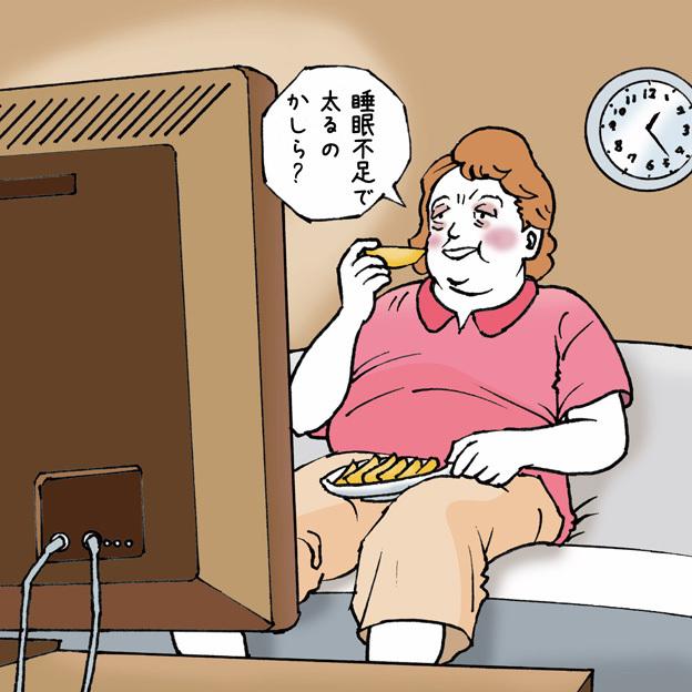 夜更かしは肥満を招く